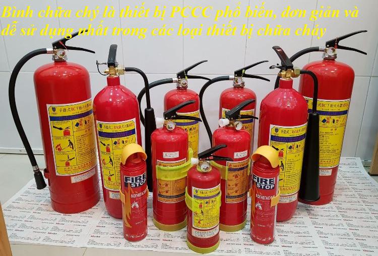 bình pccc là thiết bị PCCC phổ biến nhất và dễ sử dụng